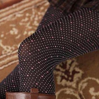 蒂巴蕾 Deparee 蒂巴蕾 inspire 超細纖維彈性褲襪Warm up-細圓點 顯瘦黑