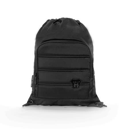 Swissdigital - 質感時尚束口後背包 - 黑