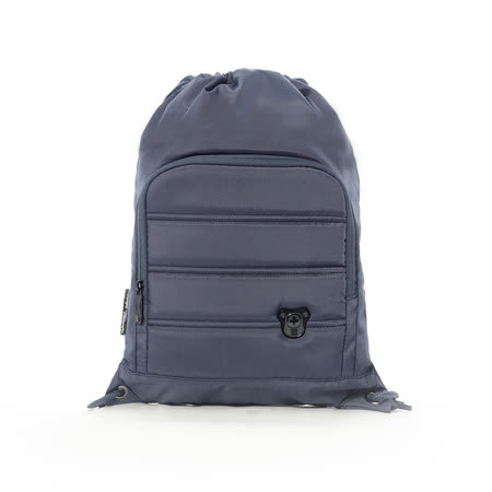 Swissdigital - 質感時尚束口後背包 - 深藍
