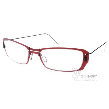 MARKUS T眼鏡 純鈦系列方框款(紅-黑) #MTM036 C013