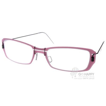 MARKUS T眼鏡 純鈦系列方框款(紫-黑) #MTM036 C059