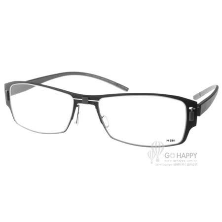 MARKUS T眼鏡 純鈦系列(黑-灰) #MTM220 C025