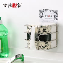 【生活采家】樂貼系列台灣製304不鏽鋼廚房用餐紙巾架#27120