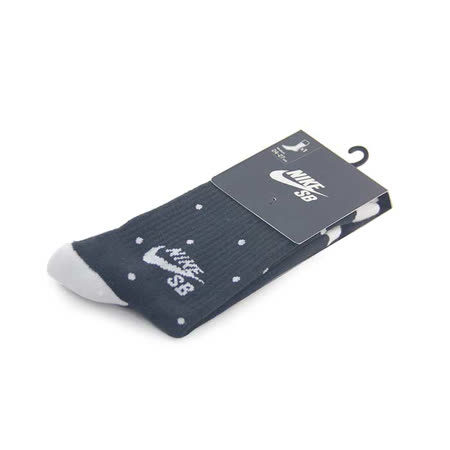 NIKE SB DOT CREW SOCK 長筒襪 黑/白點-SX5085010
