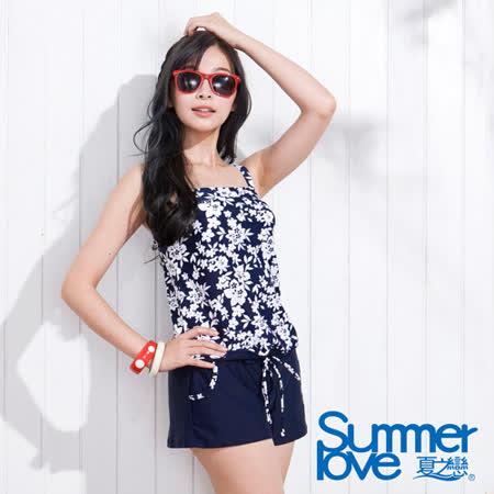 夏之戀SUMMERLOVE 花語翦影連身褲兩件式泳衣-S15753