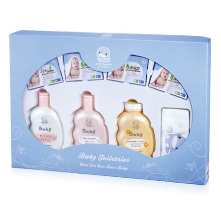 酷咕鴨KU.KU. 嬰兒沐浴禮盒/附提袋