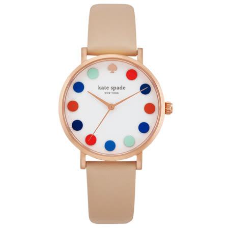kate spade   甜蜜魔法泡泡時尚腕錶-彩色泡泡