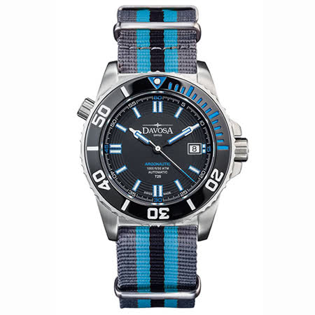 DAVOSA Argonautic–T25藍色氚氣燈管-300M 潛水專用錶-軍用錶帶/42mm