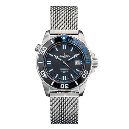DAVOSA Argonautic–T25藍色氚氣燈管-300M 潛水專用錶-不鏽鋼帶/42mm