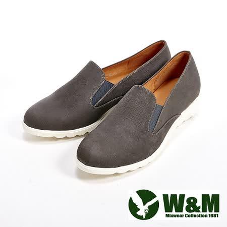 W&M (女)輕量素面休閒懶人女鞋-灰