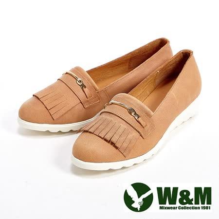 W&M (女)輕量造型流蘇休閒女鞋-卡其