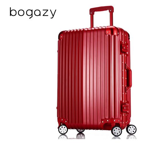 【Bogazy】迷幻森林 24吋鋁框PC鏡愛 買 官網面行李箱(金屬紅)
