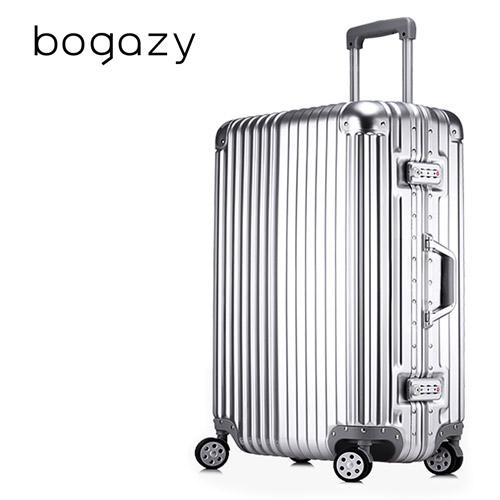 【Bogazy】迷幻森林 20吋鋁框PC鏡面行李箱(紳士銀新竹 大 遠 百)