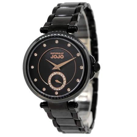 NATURALLY JOJO   流金歲月時尚腕錶-黑