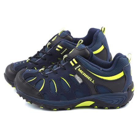 Merrell 大童 戶外多功能透氣運動鞋ML53640-藍