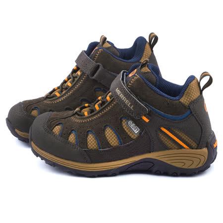 Merrell 大童 戶外多功能透氣運動鞋ML53649-咖
