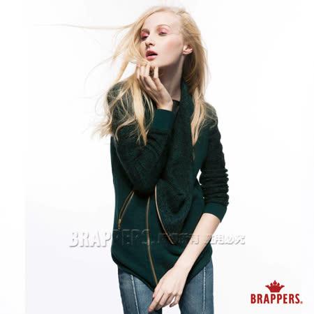 (女) BRAPPERS 女用針織騎士外套-深綠