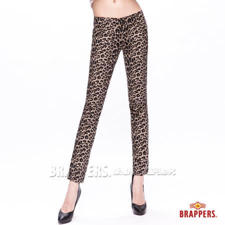 (女) BRAPPERS 新美腳Royal系列-女用彈性九分褲-豹紋