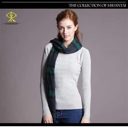 玄太-高雅百搭幾何織紋針織上衣(灰)