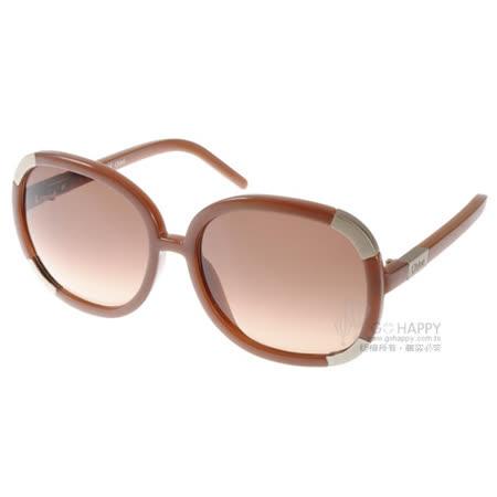 CHLOE太陽眼鏡 經典大框(棕) #CL2119 C207