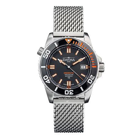 DAVOSA Argonautic–T25橘色氚氣燈管-300M 潛水專用錶-不鏽鋼帶/42mm