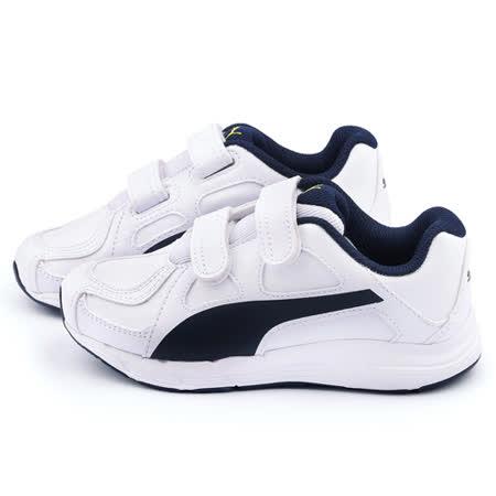PUMA 中大童 輕量透氣運動鞋188379-03-白