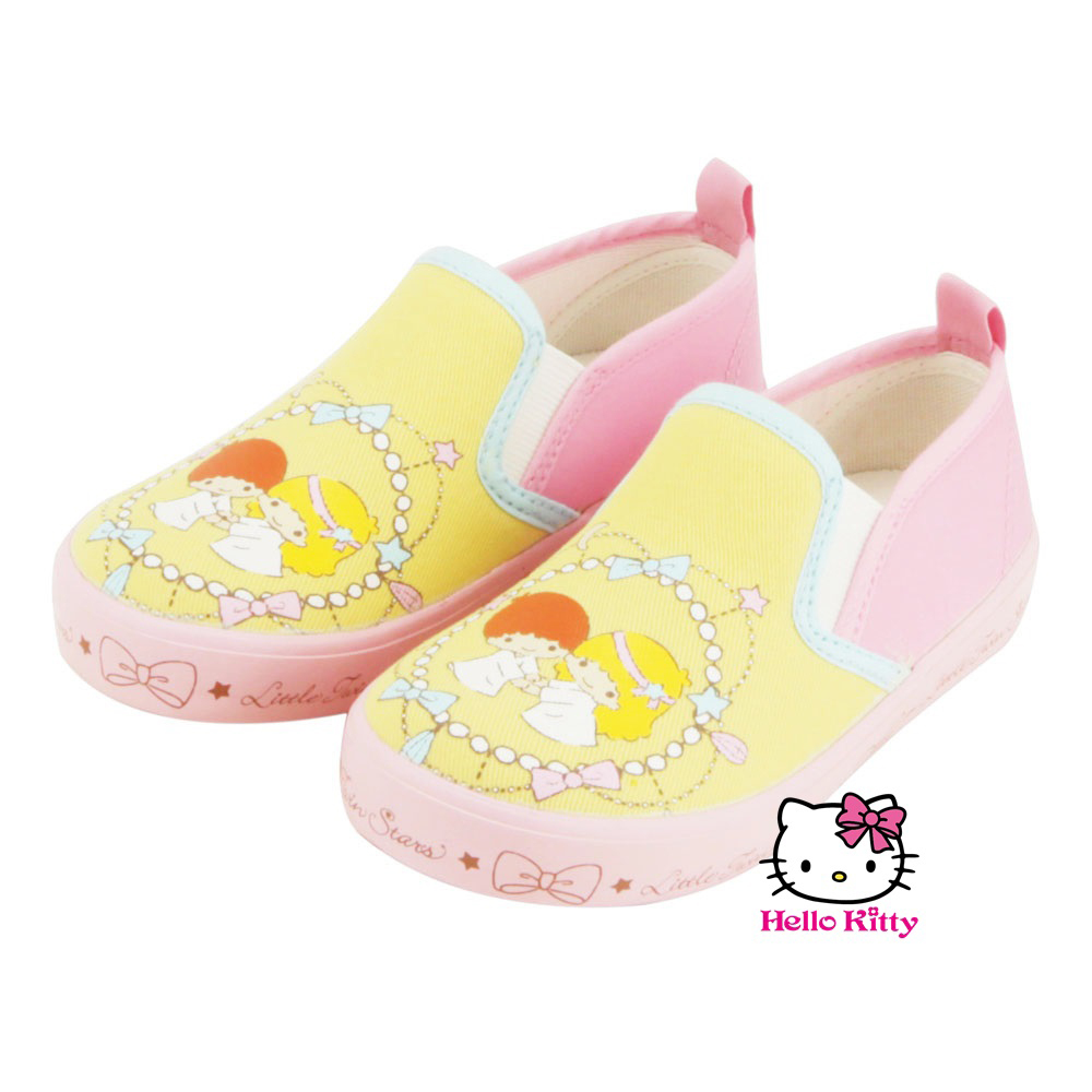 ~MODAbobo~Hello Kitty 中大童段幼教雙星仙子休閒室內鞋~黃粉 T5A8