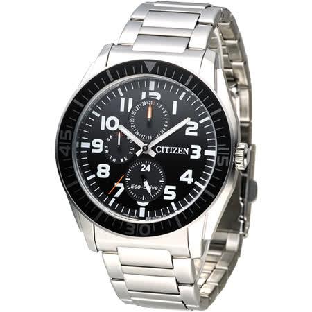 CITIZEN GENT'S 英雄聯盟光動能計時男錶-IP黑框(AP4010-54E)
