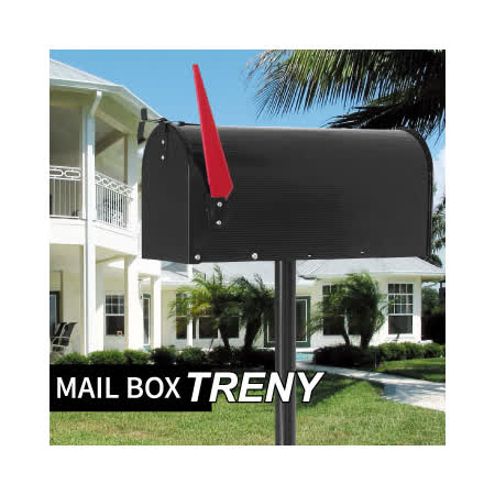 TRENY美式支架信箱-黑