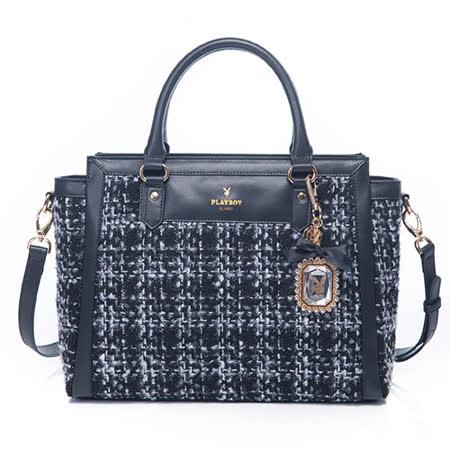 PLAYBOY- Luxe 奢華寶貝系列 2WAY大手提包-黑色