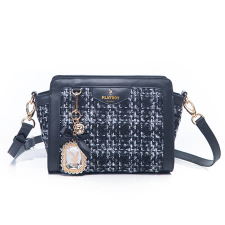 PLAYBOY- Luxe 奢華寶貝系列 斜背包-黑色