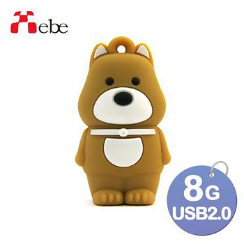 Xebe集比 8G 造型USB隨身碟 柴犬