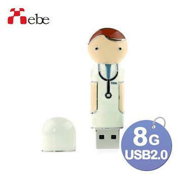 Xebe集比 8G 造型USB精品隨身碟 醫生