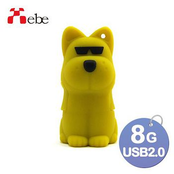 Xebe集比 8G 造型USB隨身碟 墨鏡狗