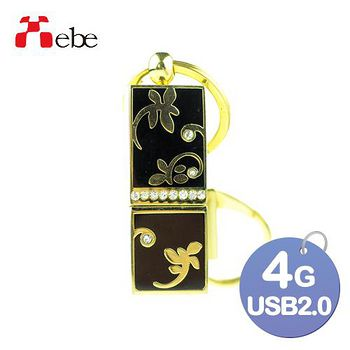 Xebe集比 4G USB精品隨身碟 細緻花紋