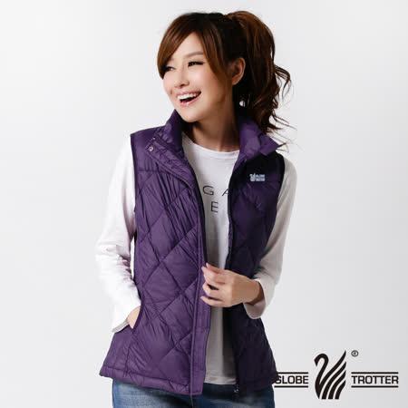 【遊遍天下】女款JIS90%羽絨輕暖激瘦菱格羽絨背心A053暗紫