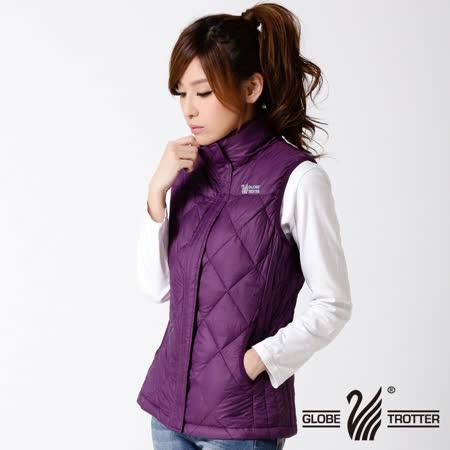 【遊遍天下】女款JIS90%羽絨輕暖激瘦菱格羽絨背心A053紫色