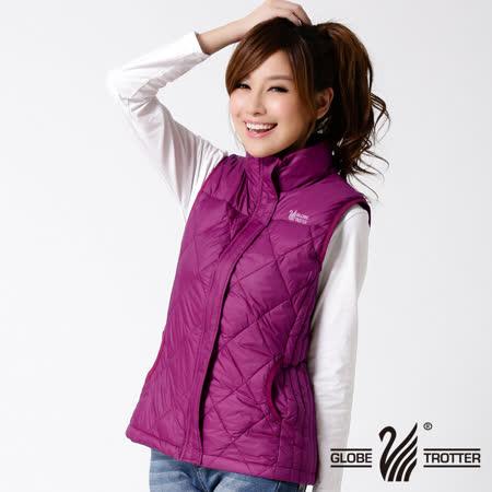 【遊遍天下】女款JIS90%羽絨輕暖激瘦菱格羽絨背心A053紫紅