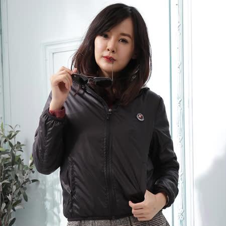 【Stoney.ax】韓版新款輕薄別緻連帽北極絨休閒外套-黑色