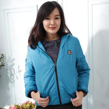 【Stoney.ax】韓版新款輕薄別緻連帽北極絨休閒外套-水藍