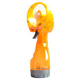 第三代隨身涼噴水風扇噴霧降溫送冰涼領巾~保濕~手持式~安全扇片~亮麗橙