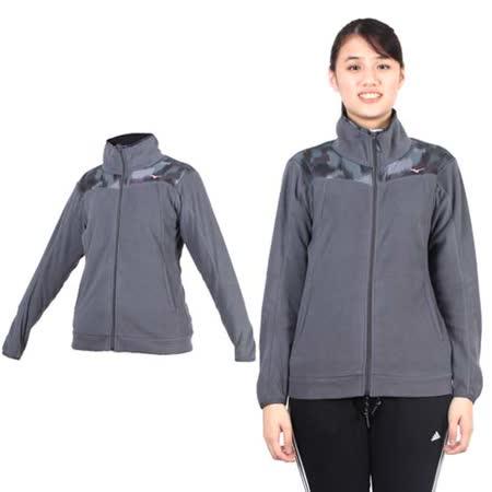 (女) MIZUNO 風衣外套- 立領外套 路跑 慢跑 美津濃 灰粉紅