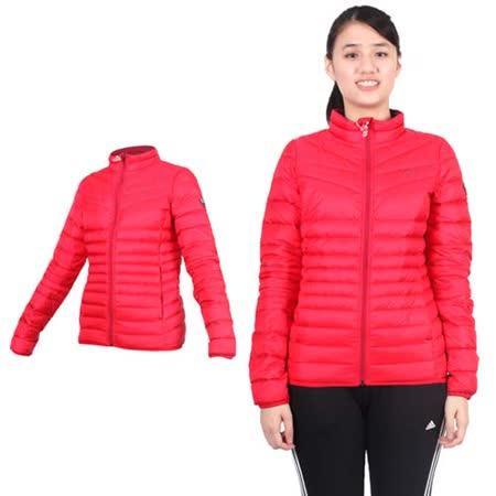 (女) PUMA 輕量羽絨外套- 立領外套 保暖外套 紅