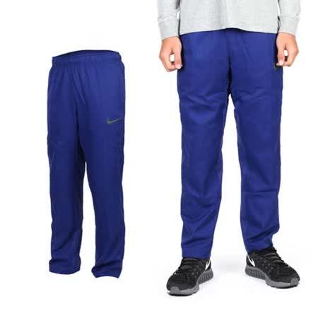 (男) NIKE 梭織長褲- 路跑 慢跑 運動長褲 寶藍