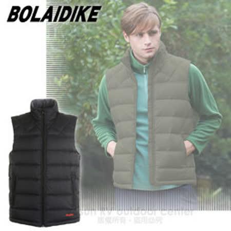【波萊迪克bolaidike】男新款 立體橫格輕量防潑水透氣立領保暖羽絨背心_TC013 黑