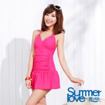【夏之戀SUMMER LOVE】甜美佳人連身帶裙泳衣(E15705)
