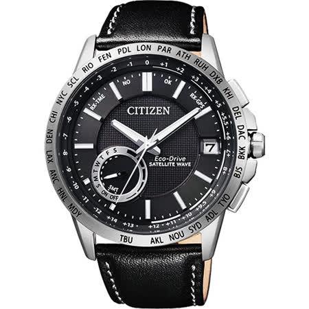 CITIZEN GPS光動能衛星對時萬年曆錶-黑/44.5mm CC3001-01E