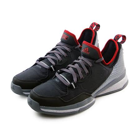 (男)ADIDAS D LILLARD 籃球鞋 碳黑/紅-S85492