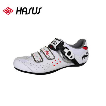 Hasus 悠遊樂活非卡式自行車鞋HKM01-WHT/城市綠洲(白神駒、快扣、硬底子、腳踏車鞋)