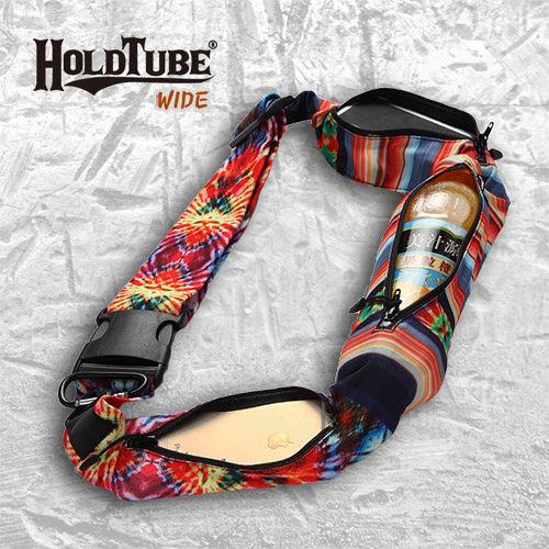 【HOLDTUBE】運動腰帶-三口袋-冷豔鳳凰(愛 買 衛生紙含扣環)